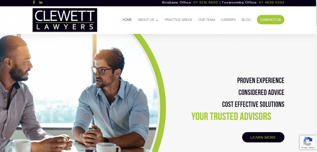 Clewett Lawyers New Website